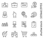 thin line icon set   business... | Shutterstock .eps vector #1056615953