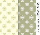 olive green floral backgrounds. ... | Shutterstock .eps vector #1056617633