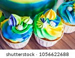 colorful bright cupcakes close... | Shutterstock . vector #1056622688