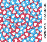 vector 3d thumb up blue icons... | Shutterstock .eps vector #1056630038