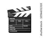 clapperboard for movie. vintage ... | Shutterstock .eps vector #1056631310