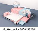 geometric shapes interior.... | Shutterstock . vector #1056631910