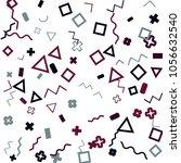 memphis background.  trendy...   Shutterstock .eps vector #1056632540