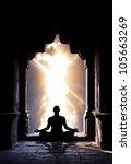 yoga meditation in lotus pose... | Shutterstock . vector #105663269