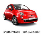 Stock photo  d illustration of red small car on white background 1056635300