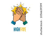 high five vector illustration.... | Shutterstock .eps vector #1056639599