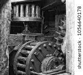 Gears Inside An Old Mill.