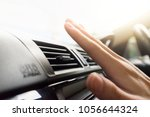 closeup of hand checking the... | Shutterstock . vector #1056644324