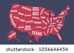 united states of america map.... | Shutterstock .eps vector #1056646454