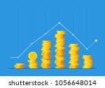 coins stack vector illustration ... | Shutterstock .eps vector #1056648014