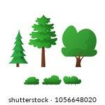 cartoon trees isolated. flat | Shutterstock .eps vector #1056648020
