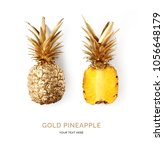 creative layout made of gold... | Shutterstock . vector #1056648179