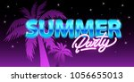 summer party in neon style....