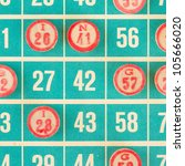wooden numbers used for bingo ... | Shutterstock . vector #105666020