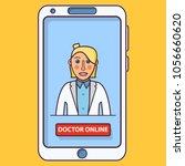mobile application online... | Shutterstock .eps vector #1056660620