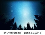 blue dark night sky with many... | Shutterstock .eps vector #1056661346