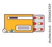 medicine drugs pills.blisters... | Shutterstock .eps vector #1056661424