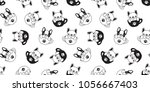 dog seamless pattern french... | Shutterstock .eps vector #1056667403