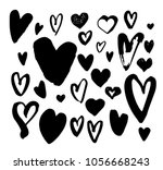 big collection of hand drawn... | Shutterstock .eps vector #1056668243