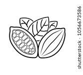 cocoa beans  badge  logo ... | Shutterstock .eps vector #1056673586
