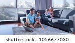 happy family. father  mother... | Shutterstock . vector #1056677030