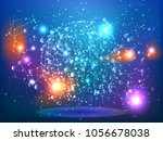 abstract technology space...   Shutterstock .eps vector #1056678038
