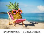 summer lifestyle image of young ... | Shutterstock . vector #1056689036