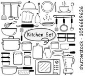 line hand drawn doodle vector... | Shutterstock .eps vector #1056689636