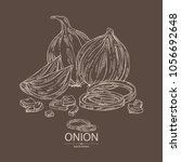 onion  rings  full onion and... | Shutterstock .eps vector #1056692648