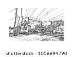 train track of seoul in hand...   Shutterstock .eps vector #1056694790