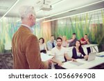 group of students study with... | Shutterstock . vector #1056696908