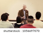 group of students study with... | Shutterstock . vector #1056697070