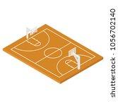 isometric basketball court...   Shutterstock .eps vector #1056702140