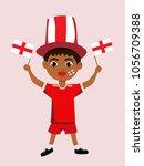 fan of england national... | Shutterstock .eps vector #1056709388