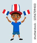 fan of france national football ... | Shutterstock .eps vector #1056709403