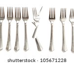 broken fork of the new and the... | Shutterstock . vector #105671228