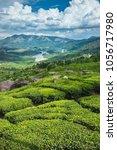 tea plantations in kerala | Shutterstock . vector #1056717980