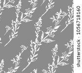 botanical illustration pattern   Shutterstock . vector #1056718160