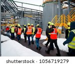factory inspection. group of... | Shutterstock . vector #1056719279