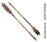 Indian Arrows. Watercolor...
