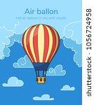 flat hot air balloon | Shutterstock .eps vector #1056724958