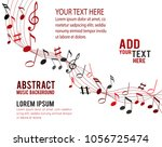 color music notes on a solide... | Shutterstock .eps vector #1056725474