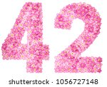 arabic numeral 42  forty two ... | Shutterstock . vector #1056727148