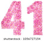 arabic numeral 41  forty one ... | Shutterstock . vector #1056727154