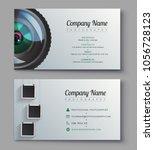 photographer business card...   Shutterstock .eps vector #1056728123