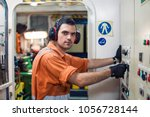 marine engineer officer starts... | Shutterstock . vector #1056728144