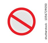 isolated forbid red symbol... | Shutterstock .eps vector #1056729050