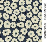 trendy seamless floral pattern. ... | Shutterstock .eps vector #1056729950