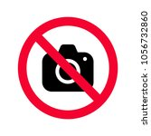 no cameras allowed sign. red... | Shutterstock .eps vector #1056732860