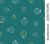 scandinavian hand drawn doodle... | Shutterstock .eps vector #1056735398
